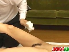 Rika Tamura adorable toy porn on cam in slopp