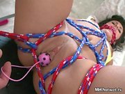 Balls And Cock In Tied MILFs Pussy