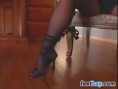 MILF In Hot Pantyhose Teasing