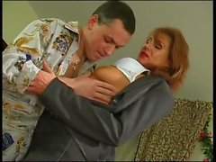 Lady boss seduces guy