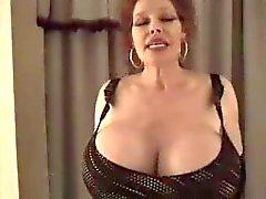 Massive tits on redhead milf that fucks