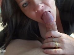 Busty Milf Sucks And Rides For A Huge Creampie - POV 4K - Reverse Cowgirl