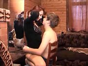 Double handjob in young on old amateur clip
