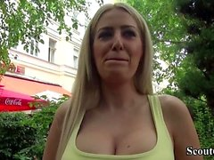 German Scout - Hot MILF Blanche Seduce to Fuck from Street
