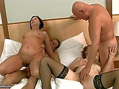 Orgy with mature women Margo T and Eodit