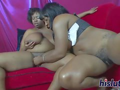 Two horny lesbian bitches use toys to fuck