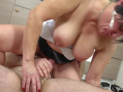 german milf seduce to fuck by best friend of her son