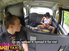 Female Fake Taxi Masked horny minx in slutty fishnets cheats on hubby