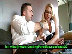 Angela Attison busty blonde blowjobs