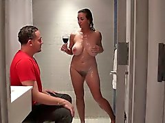 busty gilf fucked in shower!!!!
