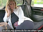 Horny milf customer twat fucked with fake driver for free