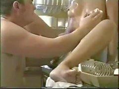Indian Diva Malvina Taking on Cock for Kitchen Fucking