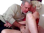 Blonde Mature Gal Gets Her Ass Banged