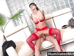 HumiliatedMilfs Horny secretary loves a meaty cock