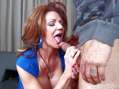 Cock hungry Deauxma gives head to Derrick