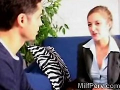 SLutty MILF gets seduced by her horny student