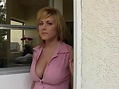 Busty Blonde Velicity Receives Creampie