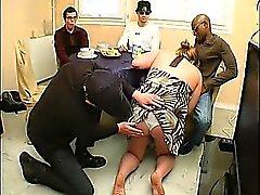 French bbw Christine gangbanged