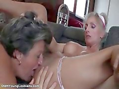 Nasty mature sluts go crazy licking