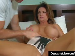Busty Texas Cougar Deauxma Fucks A Young Stud's Hard Cock!