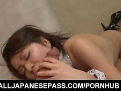 Rei Minami maid is undressed and strongly fucked by sucked dick