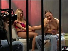 Blonde chick is getting fucked and covered