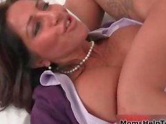 Sexy brunette babe gets horny