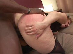 Milky skin MILF moans while getting balck cock fuck