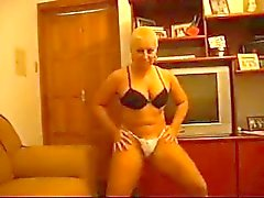 mature dancing in bra panty clip