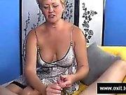 Swinger Mom Tracey milking strangers dick