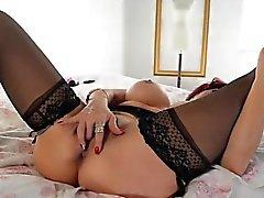 Sexy Vanessa Sexy Lingerie Solo Nipple Twister