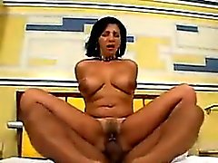 Sexy Latin MILF Riding Cock