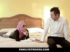 FamilyStrokes - Pakistani Wife Rides Cock In Hijab