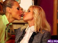 Blonde European Lesbians Get Messy