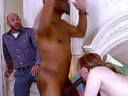 Horny ho fucks black dick