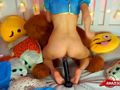 Hot pornstar huge dildo and cumshot