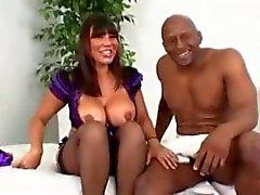 Asian milf Ava rough fucking sucking black cock