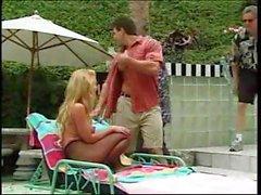 Hot Bridgette Kerkove Poolside Banging