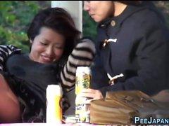 Bizarre japanese peeing