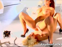 Jayden James having fun with her lesbian partner.