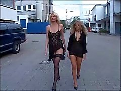 Two horny German Milfs gangbanged part 1