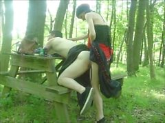 Bent Over Picnic Table