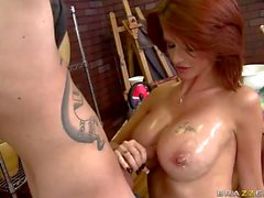 Busty milf pornstar Joslyn James fucked by her fan