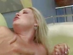 Cougar Rachel Love gets her pussy shot with jizz