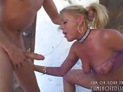 Submissive Blonde Throatfucked