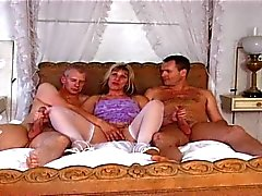 British MILF Josephine James in a MMF threesome