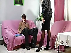 Hot blonde milf AND her skinny teen boyfriend FUCKING