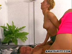 2 amateur Milf threesome with cumshot