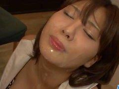 Karen Natsuhara hot milf goed nasty on a large cock