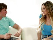 Stepson gets frisky with horny MILF Jaclyn Taylor